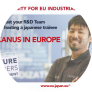 VULCANUS IN EUROPE - Host a Japanese intern and get a new input into your R&D projects